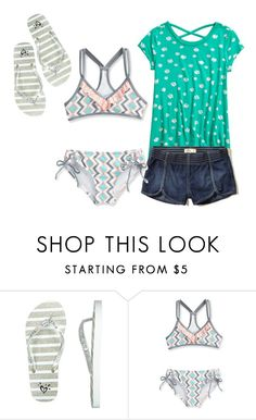 """""""swimming"""" by cfull ❤ liked on Polyvore featuring Hollister Co. and Splendid"""