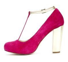 dark pink/gold pump <3