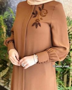 TunikYou can find Islamic clothing and more on our website. Abaya Fashion, Muslim Fashion, Fashion Dresses, Sleeves Designs For Dresses, Dress Designs, Hijab Style Dress, Iranian Women Fashion, Hijab Fashionista, Hijab Fashion Inspiration
