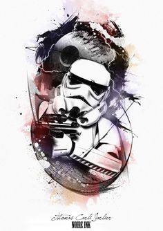 Ideas for design art poster star wars Tattoo Trash, Trash Polka Tattoo, Star Wars Tattoo, Star Tattoos, Tatoos, Star Wars Poster, Star Wars Jedi, Star Wars Art, Star Wars Merchandise