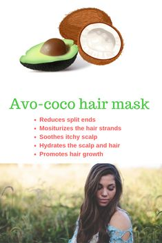 DIY Avocado and coconut milk hair mask for hair growth - DIY Beauty Recipes and Products For All Natural Beauty Care With These Tips, Secrets, and Hacks - Coconut Milk Hair Mask, Coco Hair, Moisturizing Hair Mask, Dry Frizzy Hair, Wavy Hair, Scalp Mask, Best Hair Oil, Hair Mask For Growth, Castor Oil For Hair