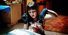"Oh how I wish it were some weird ""Frankenstein vs the Wolfman"" mash-up, but alas, that is not the case. However, ""American Mary"" star Katharine Isabelle i Horror Movies On Netflix, Best Horror Movies, Horror Films, Terrifying Movies, Scary Movies, Cult Movies, Festival Download, American Mary, Katharine Isabelle"