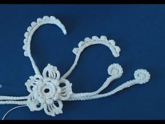 How to easy crochet a tunisian flower for beginners - YouTube
