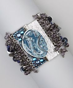 Take a look at this Blue Cordova Bead Bracelet by Treska on #zulily today!