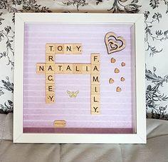 Scrabble art picture