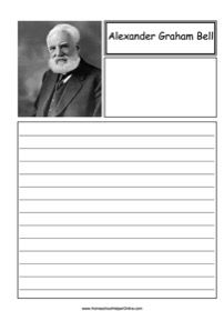 Homeschool Helper Online - Free printables, lapbooks, and unit studies for your classroom History Lesson Plans, World History Lessons, Curriculum, Homeschool, Alexander Graham Bell, Social Studies, American History, Inventions, Notebook