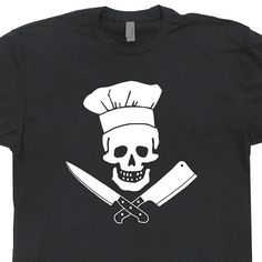 Chef T Shirt Grill Sergeant Cooking Diet Apron Cutting Board Pirate Graphic womens / mens T Shirts