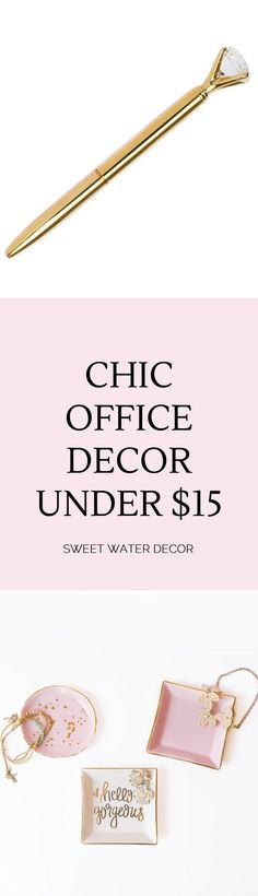 Chic office Decor - Sweet Water Decor