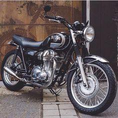"""Classy #Tracker:  Kawasaki #W800 """"fleet bike"""" by @wolfmoto.cc."""