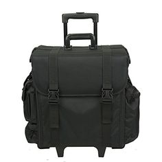 Hiker Professional Carry On Soft Sided Makeup Rolling Case Nylon Black -- Read more reviews of the product by visiting the link on the image.