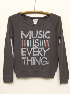 Junk Food Clothing -Kid Girls Music is Everything Long Sleeve Raglan - cool clothes for middle school girls | Cute Outfits For Middle School #tweenfashion