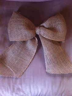 "11"" natural burlap bow for wreath or wedding decoration. Etsy"