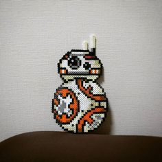 BB-8 Star Wars VII perler beads by wancky