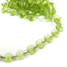 6' Lime Green Crystal Party Garlands