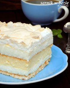 Domowa Cukierenka : sernik w bezie Pumpkin Spice Latte, No Bake Cake, Vanilla Cake, Sweet Recipes, Sweet Tooth, Sweet Treats, Cheesecake, Food And Drink, Bread