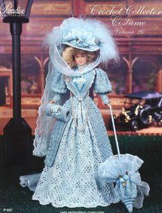 1896 Motoring Costume Paradise #26 Barbie Crochet PATTERN Leaflet (NO DOLL) NEW