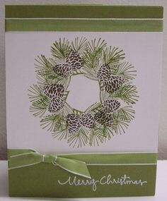 Stamping with Loll: Two Christmas Wreath Cards ...