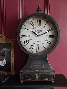 Industrial Metal Mantle Clock