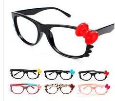 6358dd5701 Hello Kitty cat frames modelling bowknot eyeglass frame