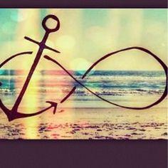 #beach #anchor #infinitysign