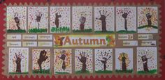 A super Autumn Finger Painting classroom display photo contribution. Great ideas for your classroom! Autumn Display Classroom, Autumn Display Eyfs, Autumn Display Boards, Classroom Displays, Autumn Display Ideas Nursery, Autumn Displays, Autumn Crafts, Autumn Art, Autumn Theme