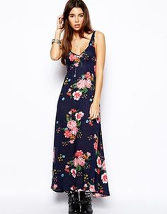12835cbe39 Free People Slip Dress in Floral Print at asos.com