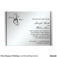 Silver Elegance Wedding Invitation
