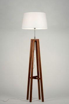 Lampara De Pie 30429: Moderno, Retro, Madera, Madera Oscuro Lamp, Interior Light Fixtures, Modern Retro, Beautiful Lamp, Wooden Lamp, Wooden Floor Lamps, Floor Lamp, Standing Lamp, Dog Lamp