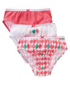 Strawberry Underwear Three-Pack at Gymboree
