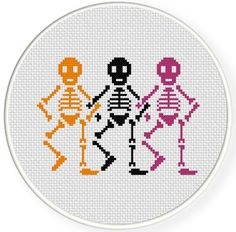 FREE Skele-dancers Cross Stitch Pattern