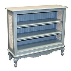 Cottage Style Furniture - Bookcases - Country French Bookcase with Caning - Cottage Haven Interiors