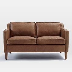 Hamilton Leather Loveseat 56 West Elm Archives Tan Sofas Furniture