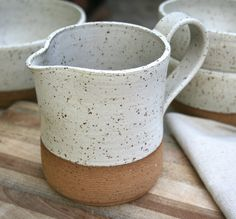 rustic pint pitcher, stoneware jug, milk jug, gravy jug, pint jug, farmhouse kitchenware, minimal pottery, speckled tableware, foodie gift by earthformsbymarie on Etsy