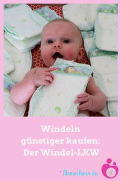 Spartipp: Beim Windel-LKW gibt es alle vier Wochen günstige Babywindeln zu kaufen.