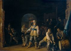Soldiers in a Guard room c.1647 by Antonie Palamedesz