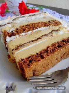 Torte Recepti, Kolaci I Torte, Cupcake Recipes, Cookie Recipes, Salmon Pie, Torte Cake, Croatian Recipes, Sweet Cakes, Tray Bakes