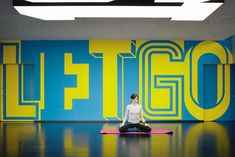 Cool type graphics for interior walls of exercise rooms on Floor 2   (adidas_gym_buro_uebele_22)
