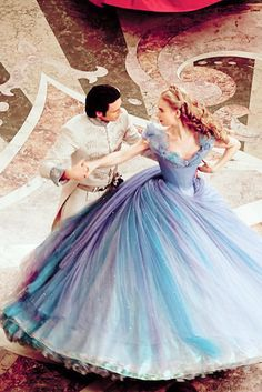 Cinderella. I still can't get over how the dress looks like it was painted with watercolors.