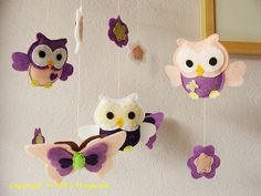 Owl Mobile for nursery - cute, but I wouldn't pay $80 for it... maybe a DIY project...