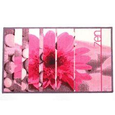 Disponible sur Maisondulinge.fr Tapis Fleur Zen Rose 50x80cm