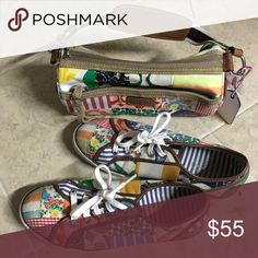 Coach match sneaker shoes purse set In great condition thank you Coach Shoes Sneakers