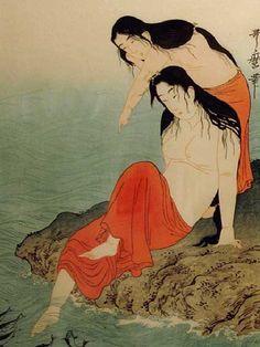 Seafood fishers. Kitagawa Utamaro ( 1753-1806 ). S)