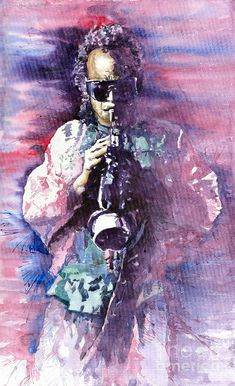 Miles Davis Meditation 2 Painting by Yuriy Shevchuk Miles Davis, Jazz Painting, Jazz Poster, Jazz Artists, Blue Art, Art Pages, Artist Art, Art Music, African Art