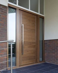 Image result for contemporary walnut front doors