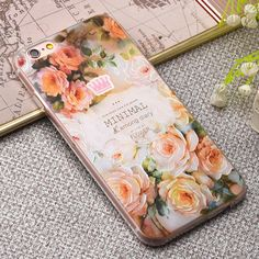 Fashion Relief Colorful Flower Plants Leaves Case For iphone 7 Case Cute Cartoon Leaf Back Cover Phone Cases For iphone 6 PLus
