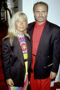 Donatella Versace and her brother Gianni Versace