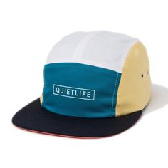 9a1c54a5090 The Quiet Life Pacific 5 Panel Camper Hat in White Fall Multi colour