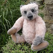 One of the many beautiful Bisson Bears by Gail Thornton from Norway.  They are wonderful huggers.