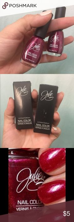 "Julie Nails Polish - 2 for 1! Julie Nails Polish in ""Maroon"" 2 for 1 !!! Never been used Julie Makeup"