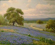 Porfirio Salinas Hill Country Bluebonnets  brings back childhood memories